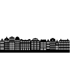silhouettes of houses vector image