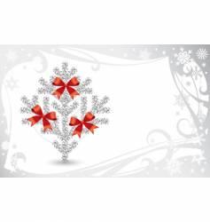 Silver Christmas card vector
