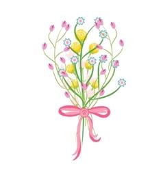 Spring wild flower bouquet vector image