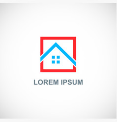 square home roof logo vector image