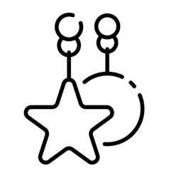 star crib toy icon outline style vector image