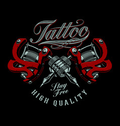 Tattoo machines vector