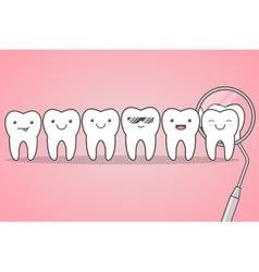 teeth check at dentist vector image
