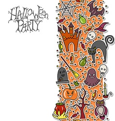 template for halloween party vector image
