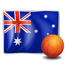 The flag of Australia with a ball vector image