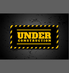 under construction industrial background in vector image