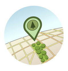 urban park location round icon vector image