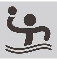 Water polo icon vector
