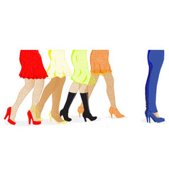Womens leg dots vector