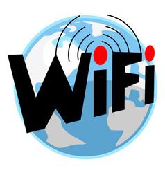 world internet vector image
