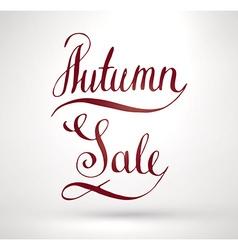 Autumn sale sign vector