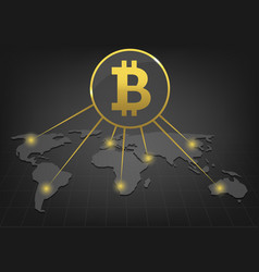 bitcoin payment system vector image