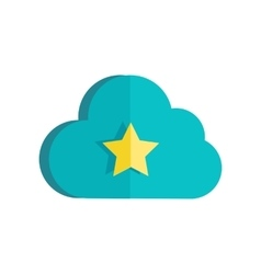 Cloud storage web button isolated ready sign vector