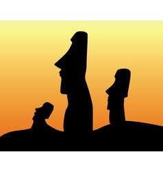 Easter island statues vector
