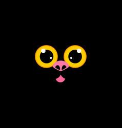 cat muzzle at black vector image