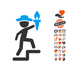 gentleman leader icon with lovely bonus vector image vector image