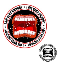 I am very hungry stamp Printing for hungry people vector image vector image