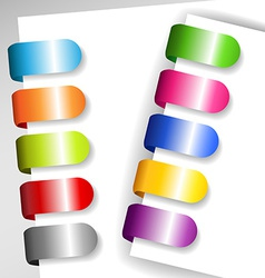 Set of metallic paper tags vector image vector image
