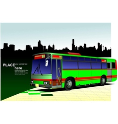 Al 0542 city bus 03 vector