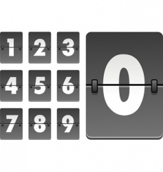 analog clock numbers vector image vector image