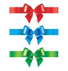 bow and ribbon set of design vector image