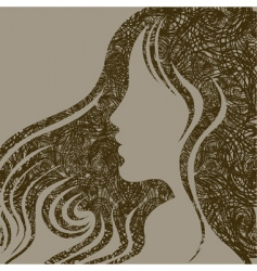 closeup woman with beautiful hair vector image