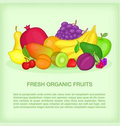 fruits concept organic cartoon style vector image