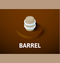 barrel isometric icon isolated on color vector image