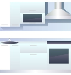 Interior of kitchen blank vector image vector image