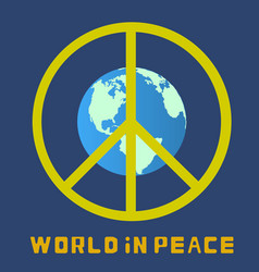 world in peace globe vector image vector image