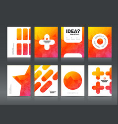 abstract business brochure design vector image