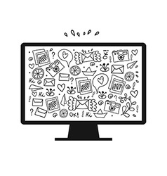 abstract tv screen design vector image