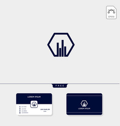 accounting finance chart creative logo template vector image