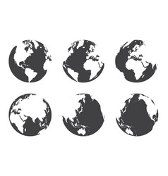All side around the world flat design vector