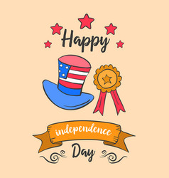 Art independence day doodle style vector