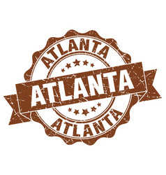 Atlanta round ribbon seal vector