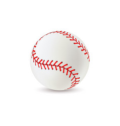 baseball ball realistic sport equipment for game vector image
