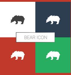 Bear icon white background vector