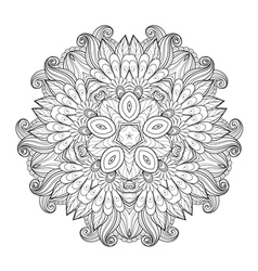 Beautiful Deco Monochrome Contour Star vector image