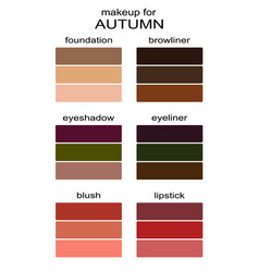 Best makeup colors for autumn type of appearance vector