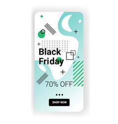 big sale template black friday banner online vector image