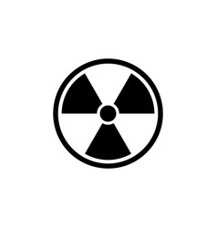 Black radioactive icon isolated on white vector