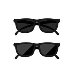 black sunglusses icon realistic design on vector image