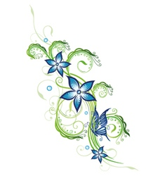 Blue flowers series vector image