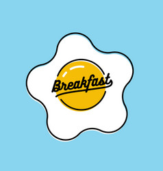 breakfast logo or icon design with fried egg vector image