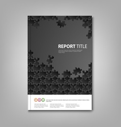 Brochures book or flyer with black puzzle template vector