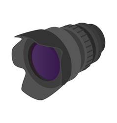 Camera zoom lens icon cartoon style vector image