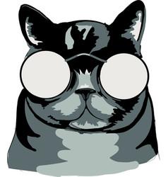 Cat black vector
