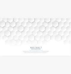 Clean white hexagonal medical concept background vector