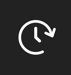 Clock tome icon timer 24 hours sign vector